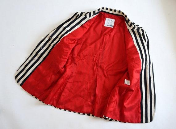 Moschino jacket, cheap chic striped blazer, Mosch… - image 6