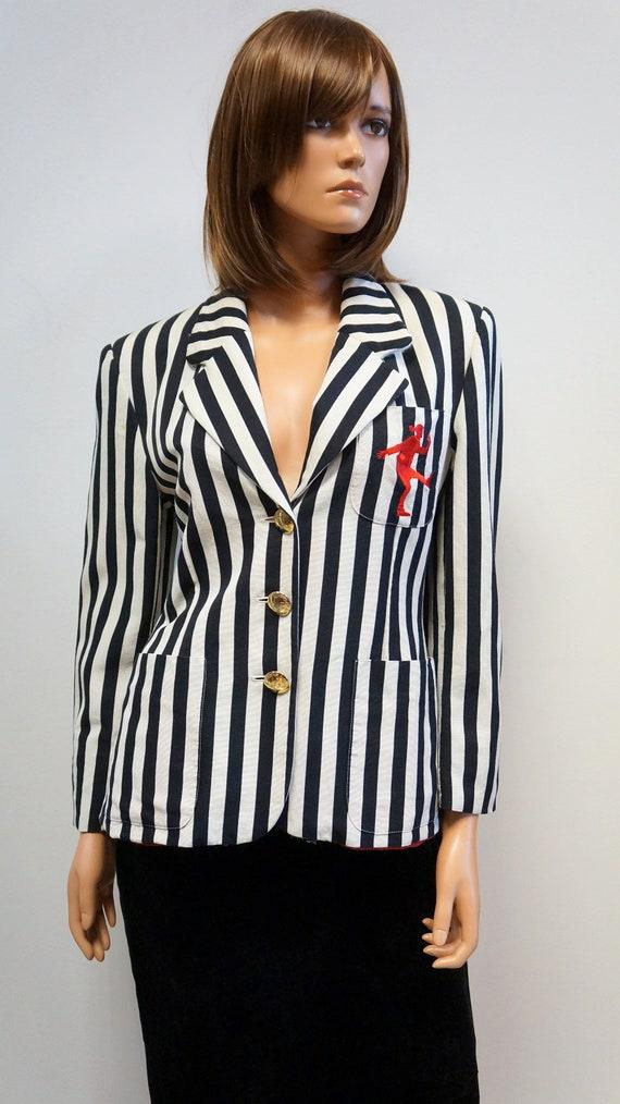 Moschino jacket, cheap chic striped blazer, Mosch… - image 2