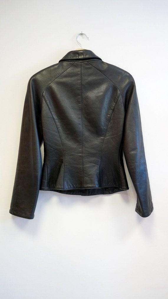 Thierry Mugler leather lamb jacket blazer ,Black … - image 6