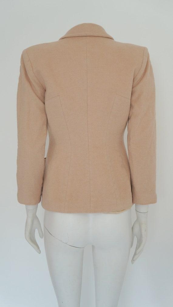 Mugler cashmere jacket,Thierry Mugler jacket, bla… - image 10