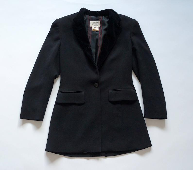 5211cafde7b Velours de laine vintage veste Hermes connecté boutons velours