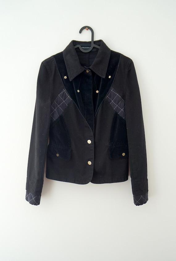 Mugler blazer,Thierry Mugler jacket vintage,silk v