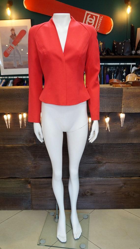 vintage Mugler jacket, blazer vintage Mugler red b