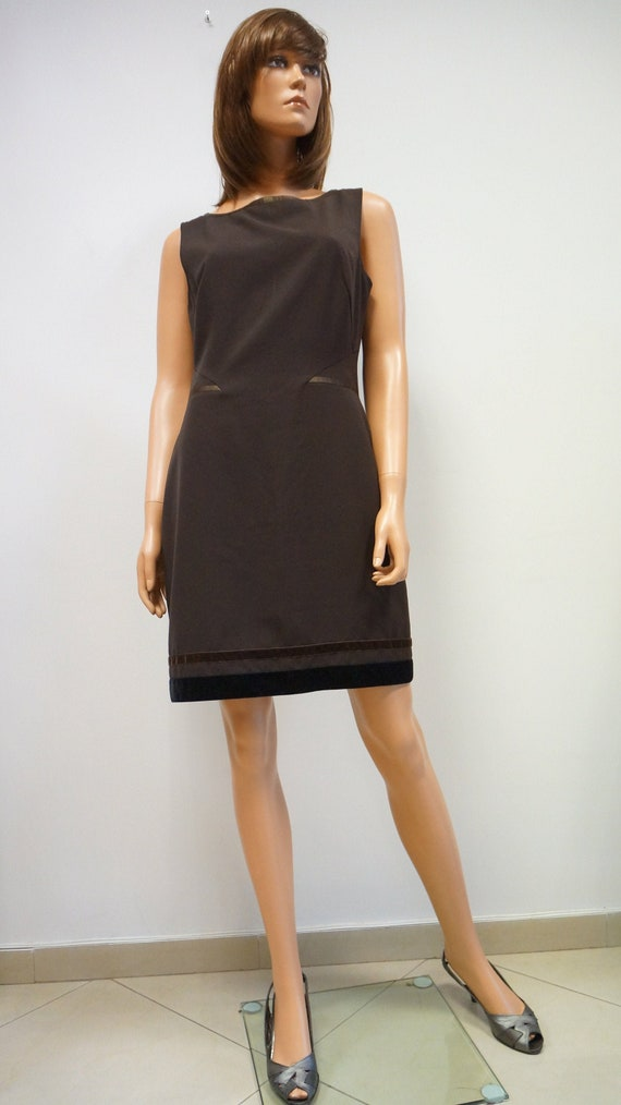 Moschino jeans dress, brown pencil dress,Moschino