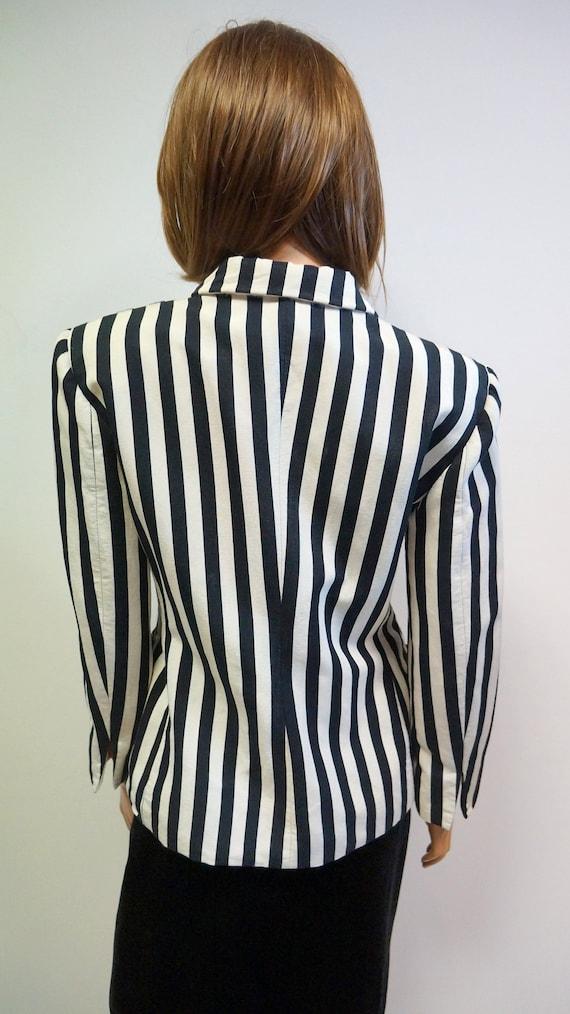 Moschino jacket, cheap chic striped blazer, Mosch… - image 9