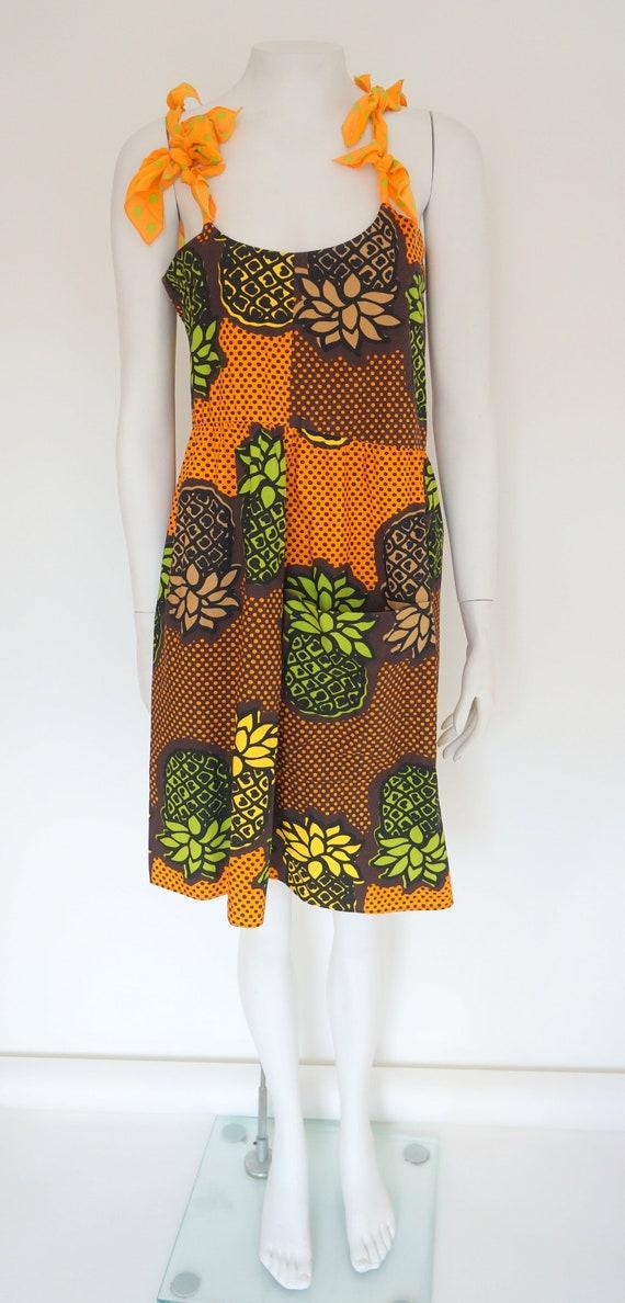 Moschino dress,moschino Cheap Chic,pineapple dress