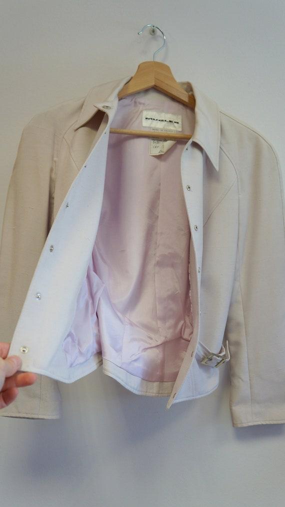 Thierry Mugler jacket blazer , beige purple, vint… - image 6