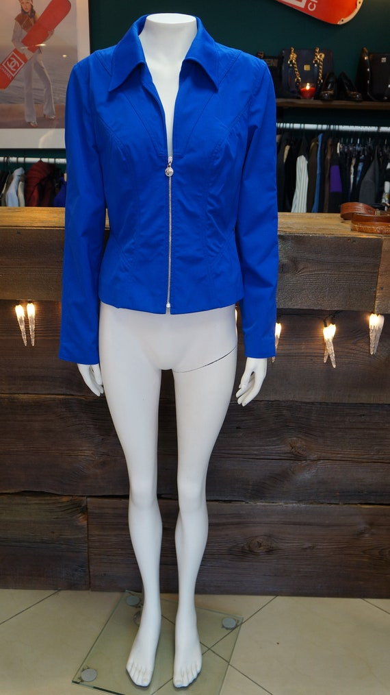 Mugler jacket blazer vintage Mugler blue blazer ja