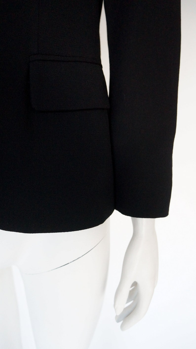 vintage Moschino jacket Cheap Chic blazer coat vintage gift for her Moschino couture black blazer