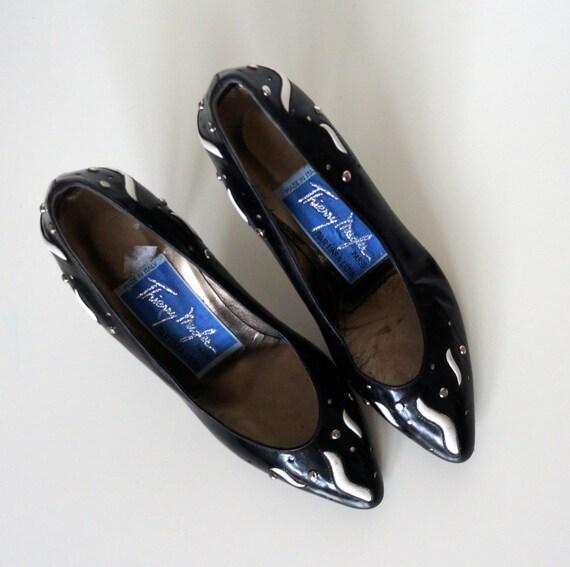 vintage Mugler shoes pumps Thierry Mugler heel vin