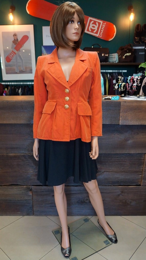 YSL jacket,vintage Yves Saint Laurent blazer,orang