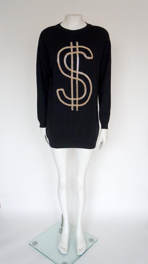 Moschino dollar wool sweater, chain moschino sweat