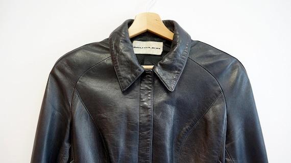 Thierry Mugler leather lamb jacket blazer ,Black … - image 5