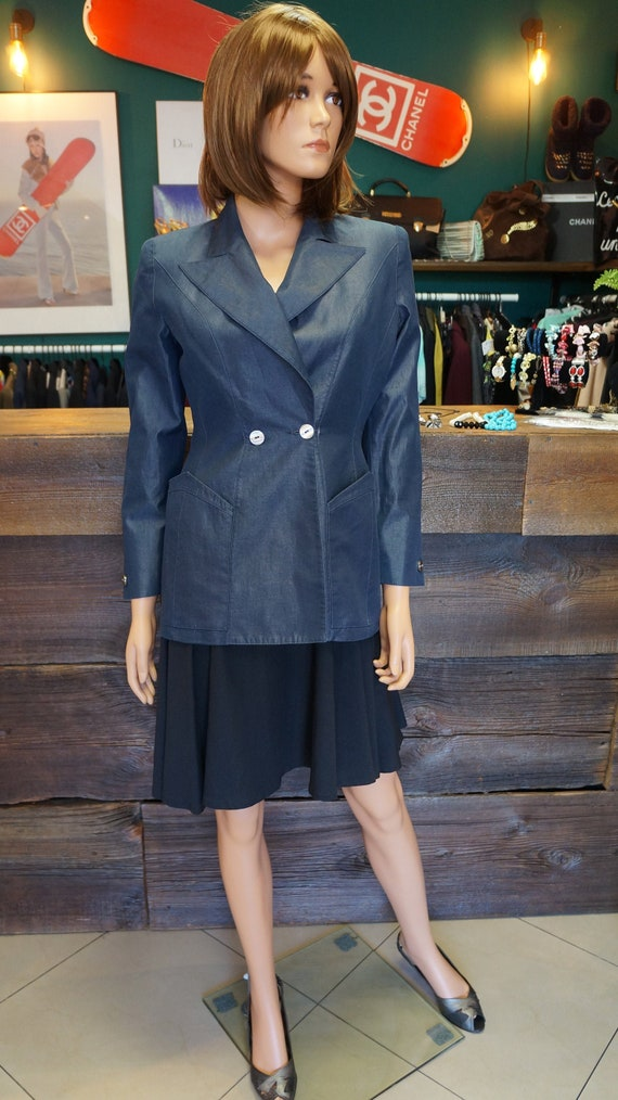 Mugler jacket, blazer Thierry Mugler vintage blue