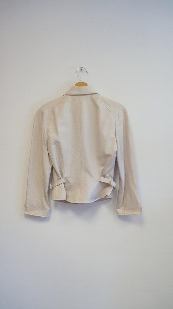 Thierry Mugler jacket blazer , beige purple, vint… - image 4