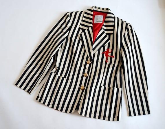 Moschino jacket, cheap chic striped blazer, Mosch… - image 4