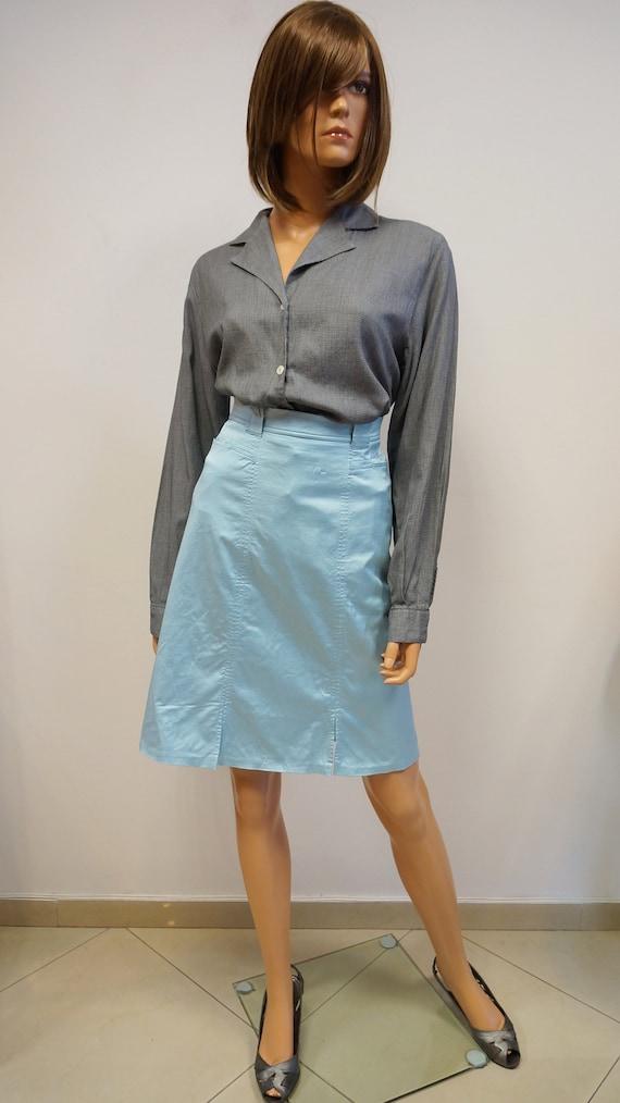 Fendi blue skirt ,Vintage Fendi cotton skirt ,Fend