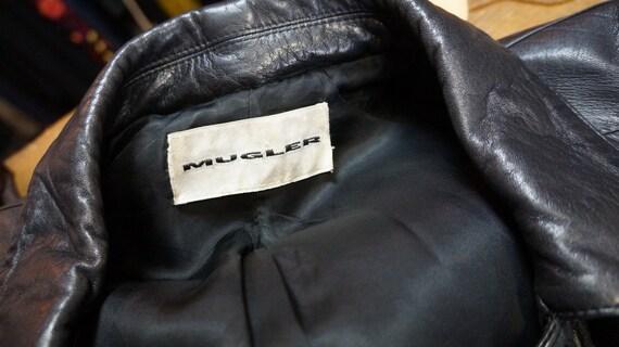 Thierry Mugler leather lamb jacket blazer ,Black … - image 3