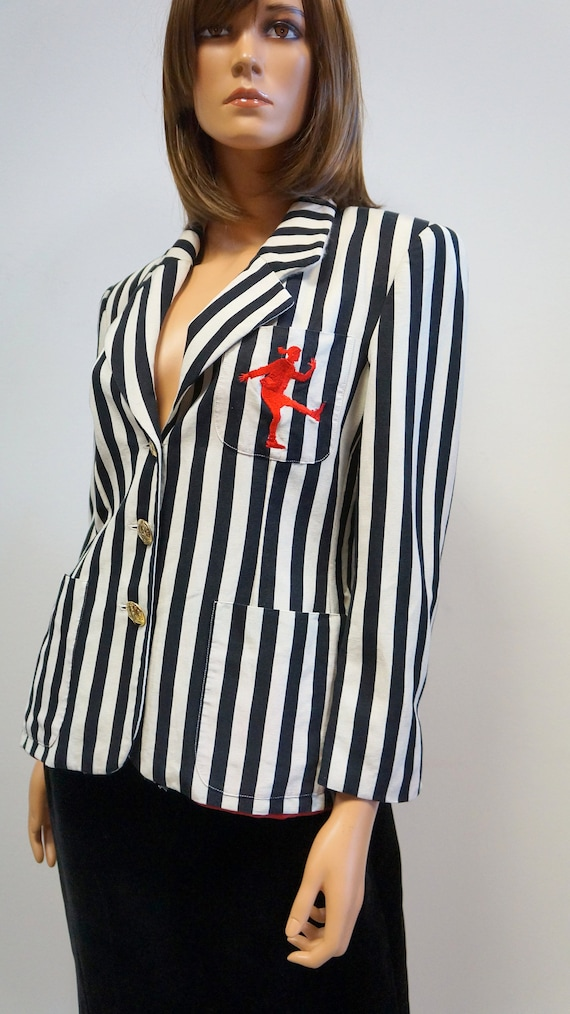 Moschino jacket, cheap chic striped blazer, Moschi