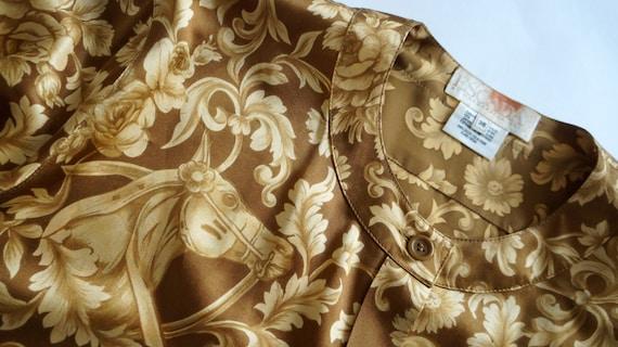 3350ea46c0de45 Escada vintage shirt silk Margaretha Ley silk shirt blouse   Etsy