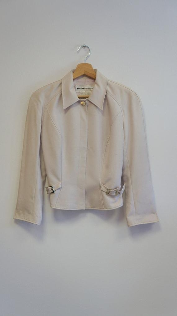 Thierry Mugler jacket blazer , beige purple, vint… - image 3