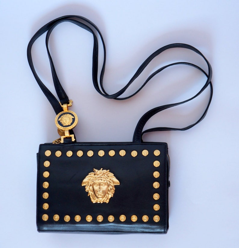 813afd3afac8 Versace medusa bag Gianni versace Couture iconic leather bag gold medusa  purse gift for her collector item versace signature medusa head bag