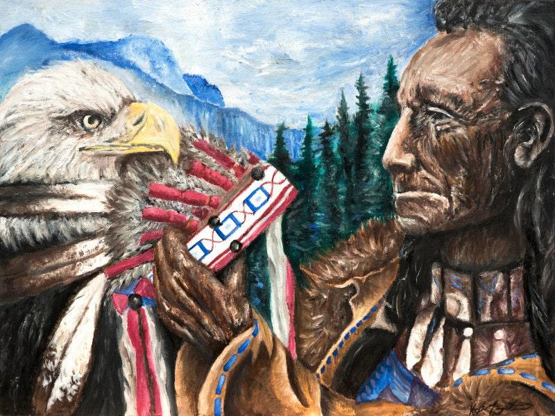 Spiritual Return ~ OIL PAINTING, Native American Art, Painting ...
