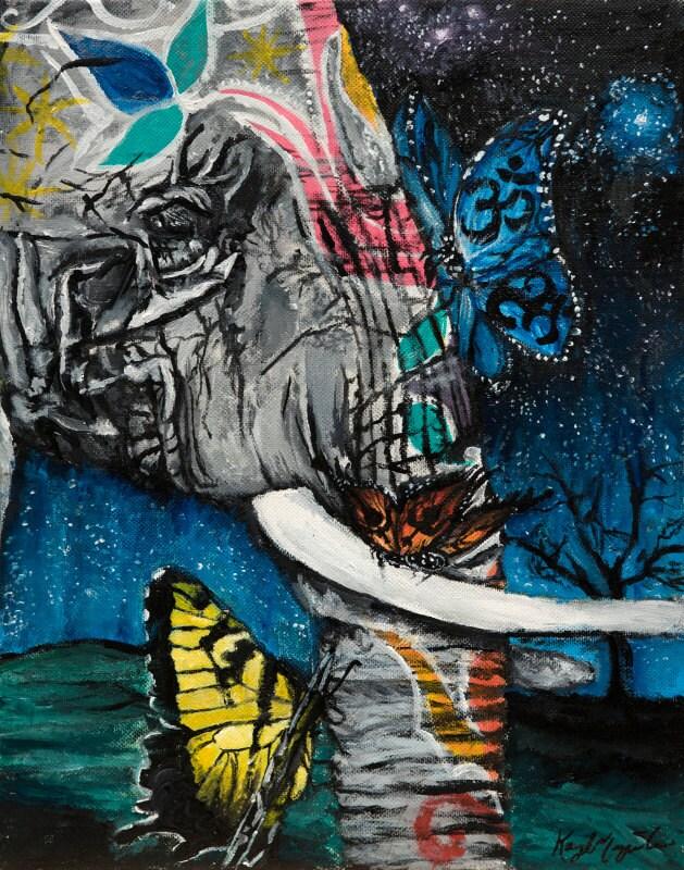 Nirvana ~ FINE ART PRINT, Elephant Art, Elephant Print, Wall Art ...