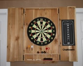 Cedar Dart Board Cabinet, Rustic Cabinet, Game Room, Man Cave, Darts