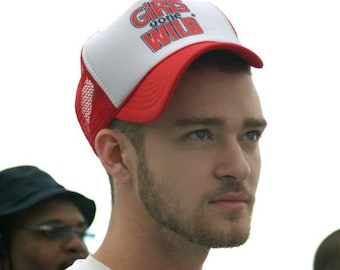Justin Timberlake Girls Gone Wild Trucker Hat - Classic Cap Vintage Humor  Snapback TShirt Truckers Party Baseball Mens Ladies Women Retro 3b4d864e4cf