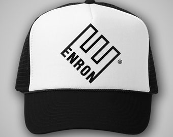 d20fe43a4f2 Enron Vintage Style Trucker Hat Classic Cap Snapback TShirt Truckers Gas  Energy Defunct Bankrupt Funny Humor Party 90s Retro Scandal