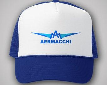 c9bb266e30f64 Aermacchi Motorcycles Vintage Style Trucker Hat Classic Cap Snapback TShirt  Truckers Italian Motorbikes Varese Giulio Macchi Chimera