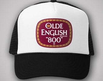 db18485267a Olde English OE Vintage Style Trucker Hat Classic Cap Humor Snapback TShirt  Truckers Retro Party Malt Liqour Beer Alcohol Drunk Drinking