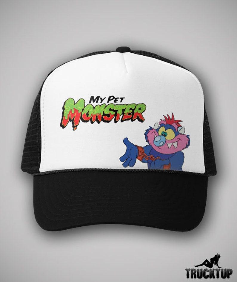 c5951d7cd98b8 My Pet Monster Vintage Cartoon Trucker Hat Cap TV Show Gift