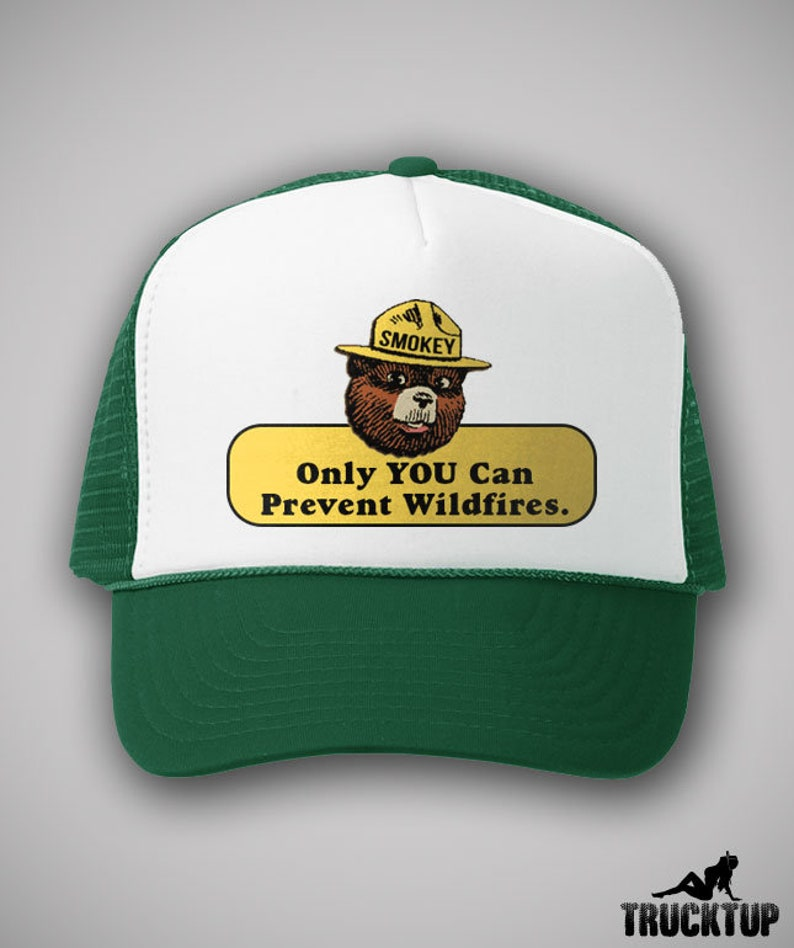 Smokey The Bear Vintage Style Trucker Hat Only You Can Prevent  6d2ddff5f8b