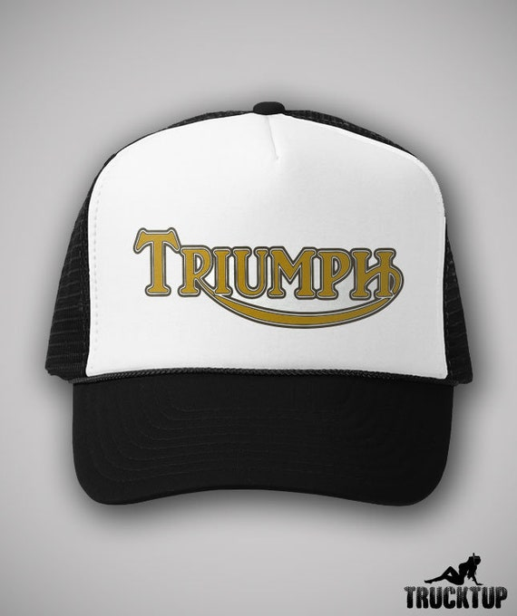 Triumph Motorcycles Vintage Style Trucker Hat Classic Cap  e39c17ae890