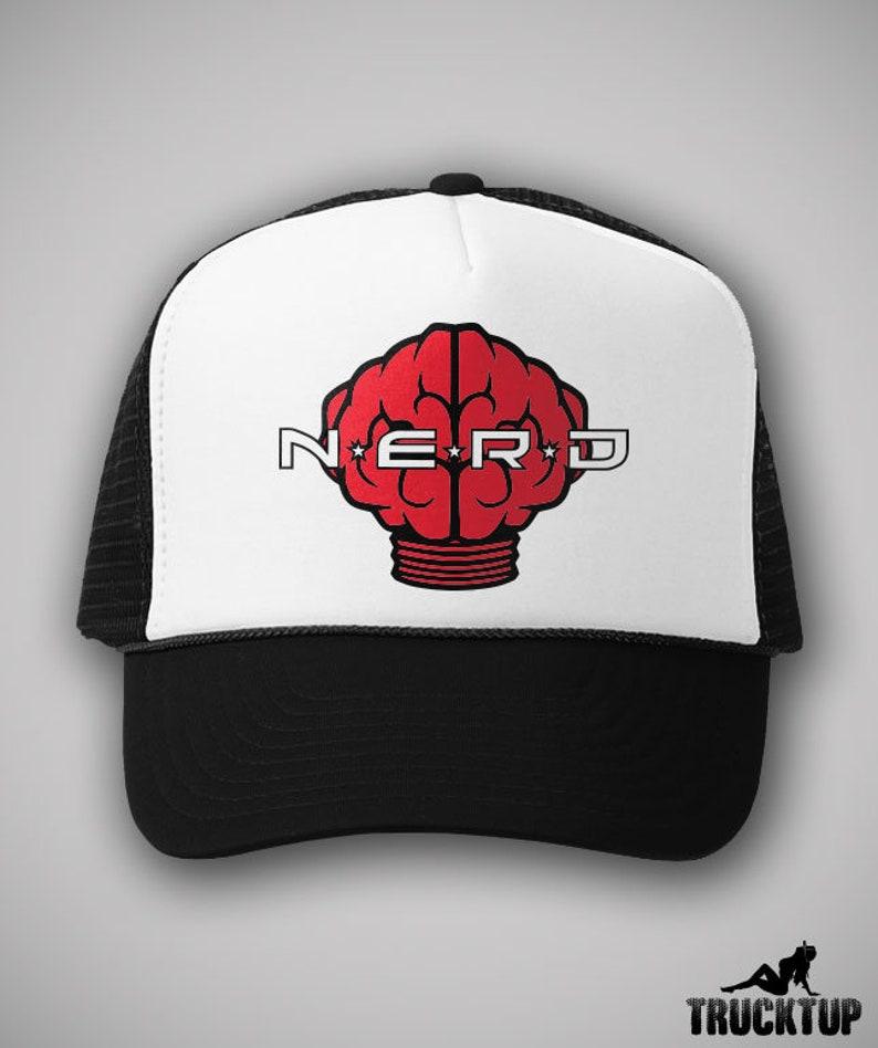 NERD Neptunes Trucker Hat Classic Cap Hip Hop Rap Rock Funk  094431ecf82c