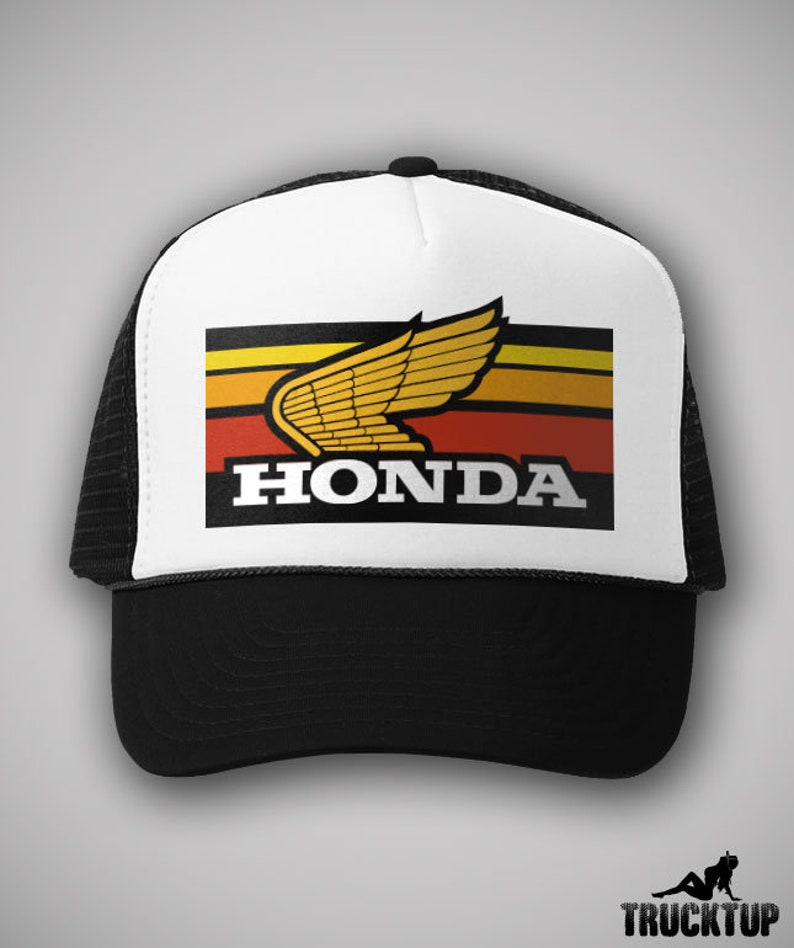 b27036bfe9482 1980 s Vintage Style HONDA Motorcycles Motocross Trucker