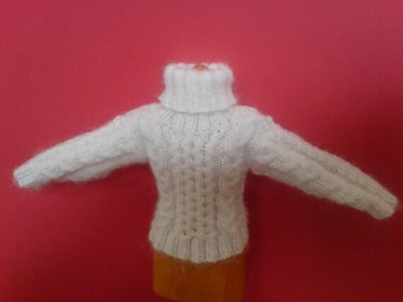 Doll's Miniature Aran Jumper Knitting Pattern for a 5.5
