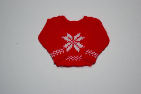 112th Scale Miniature Dolls Snowflake Christmas Jumper Etsy