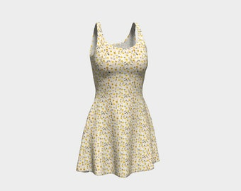 Daisies Print Flare Dress
