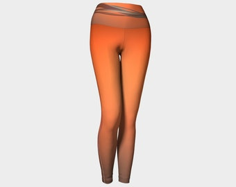 Orange Swirl Yoga Leggings