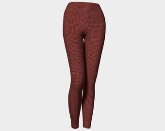 Red Plaid Yoga Leggings
