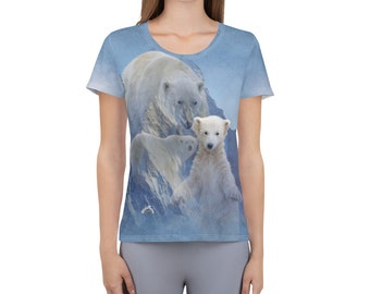 Women's Athletic T-shirt WildRness Polar Bears