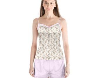 Women's Satin Pajama Short Set