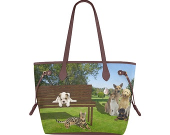 Canvas Tote Bag Dog Park