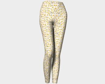Daisies Print Leggings