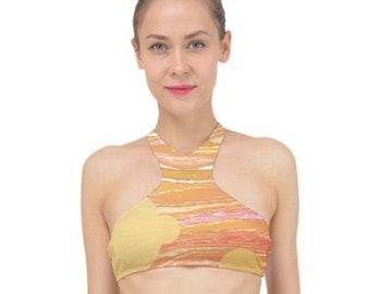 Women's High Neck Bikini Top