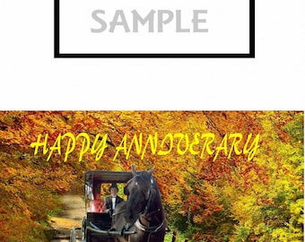 Anniversary Greeting Cards Horse and buggy