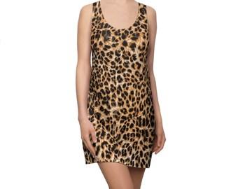 Leopard Print Racerback Dress